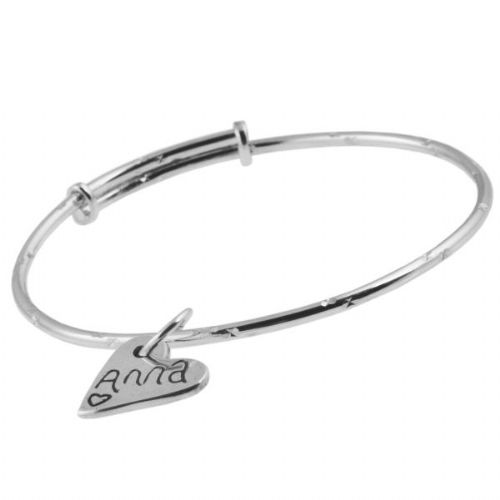 Childs Adjustable Bangle And Charm